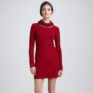 Diane von Furstenberg GIADA Scarlet Crepe Dress 10